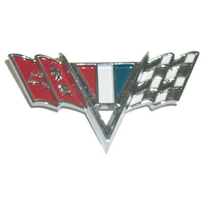 1964-1967 Chevy El Camino FENDER EMBLEM;V-FLAGS;FOR w/SMALL BLOCK V8;2 REQUIRED