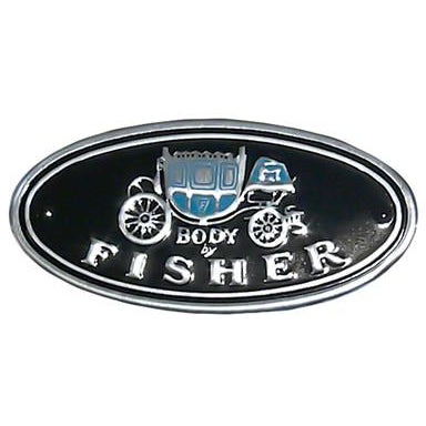 1961-1981 Pontiac LeMans FISHER BODY STICKER; BODY BY FISHER