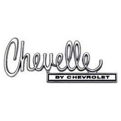 1970 Chevy Chevelle TRUNK LID EMBLEM Chevelle BY CHEVROLET