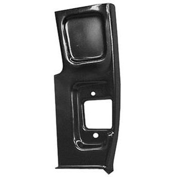 1955-1959 Chevy 2nd Series Pickup PASSENGER SIDE LOWER DOOR PILLAR PATCH;15-3/4in X 6-1/2in