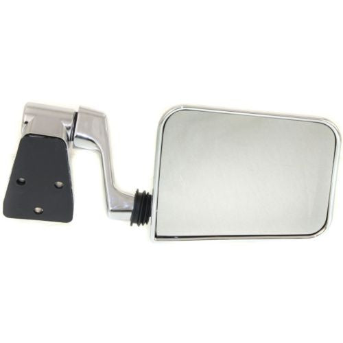 1987-1995 Jeep Wrangler Mirror LH,Manual,Non-heated,Manual Folding,Chrome,w/Arm