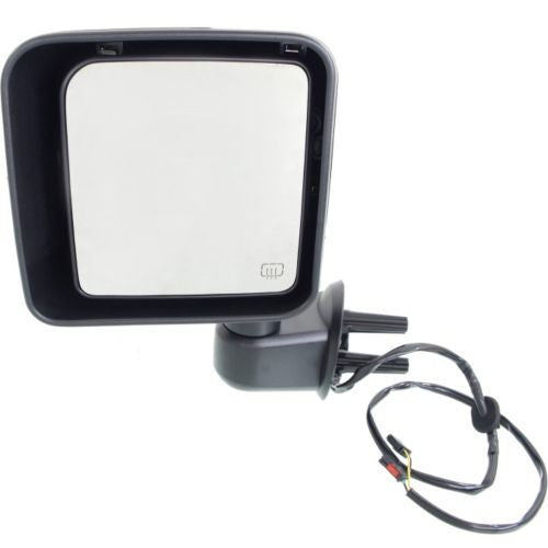2015-2016 Jeep Wrangler Mirror LH,Power,Heated,Manual Folding,Chrome
