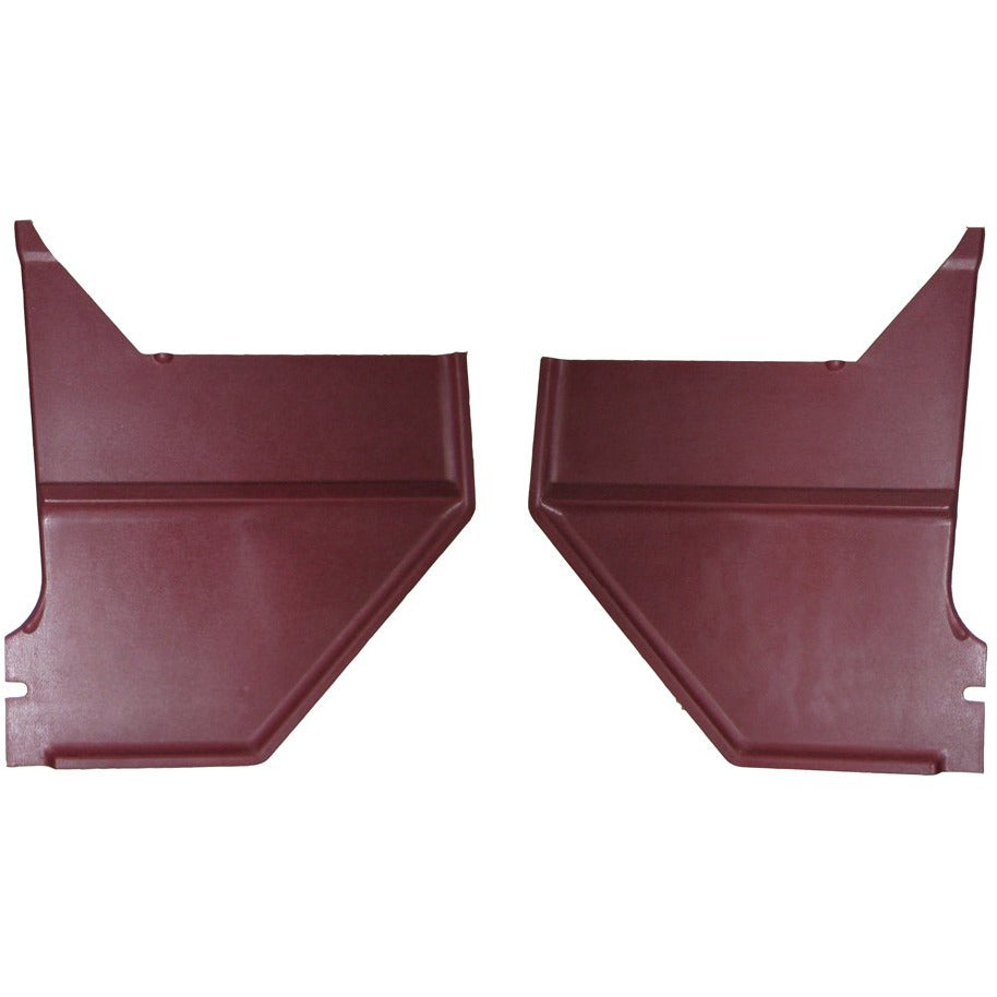 1967-1968 Ford Mustang Kick Panel, Red Pair Coupe Fastback