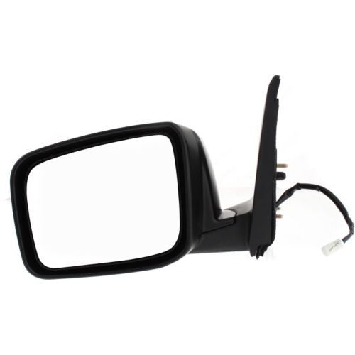 2008-2013 Nissan Rogue Mirror LH,Power,Heated,Manual Fold,Textured