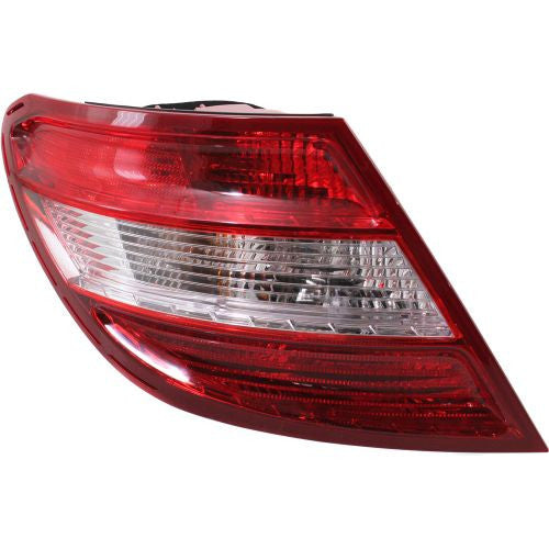 2008-2011 Mercedes-Benz C-Class Tail Lamp LH, Assembly, W/o Curve Lighting