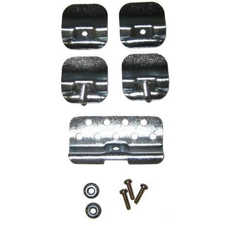 1955-1957 Chevy One-Fifty Series Windshield Molding Clip Set, Lower Joint