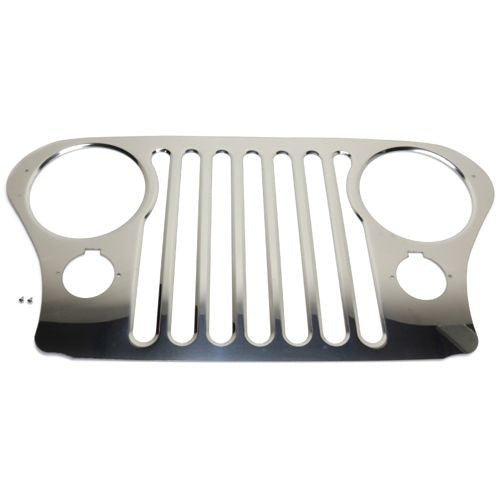 1972-1986 Jeep CJ 5, Jeep CJ 7 Grille, Stainless