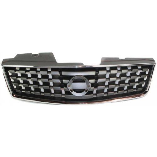 2007-2008 Nissan Sentra Grille, Chrome Shell/Black
