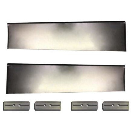 1931-1932 Chevy Full Size Smooth Running Board Set W/Adapters