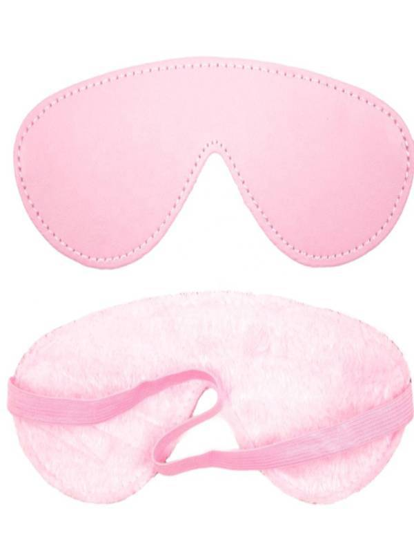 berlin baby fur lined blindfold pink