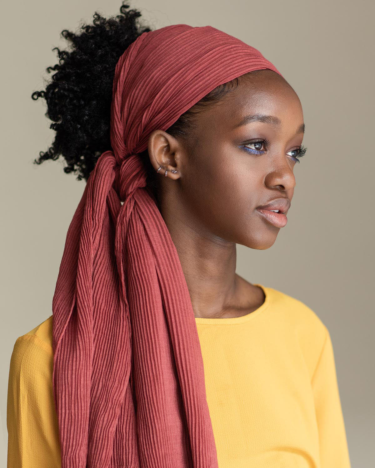 Easy and casual using MAUVIE head wrap