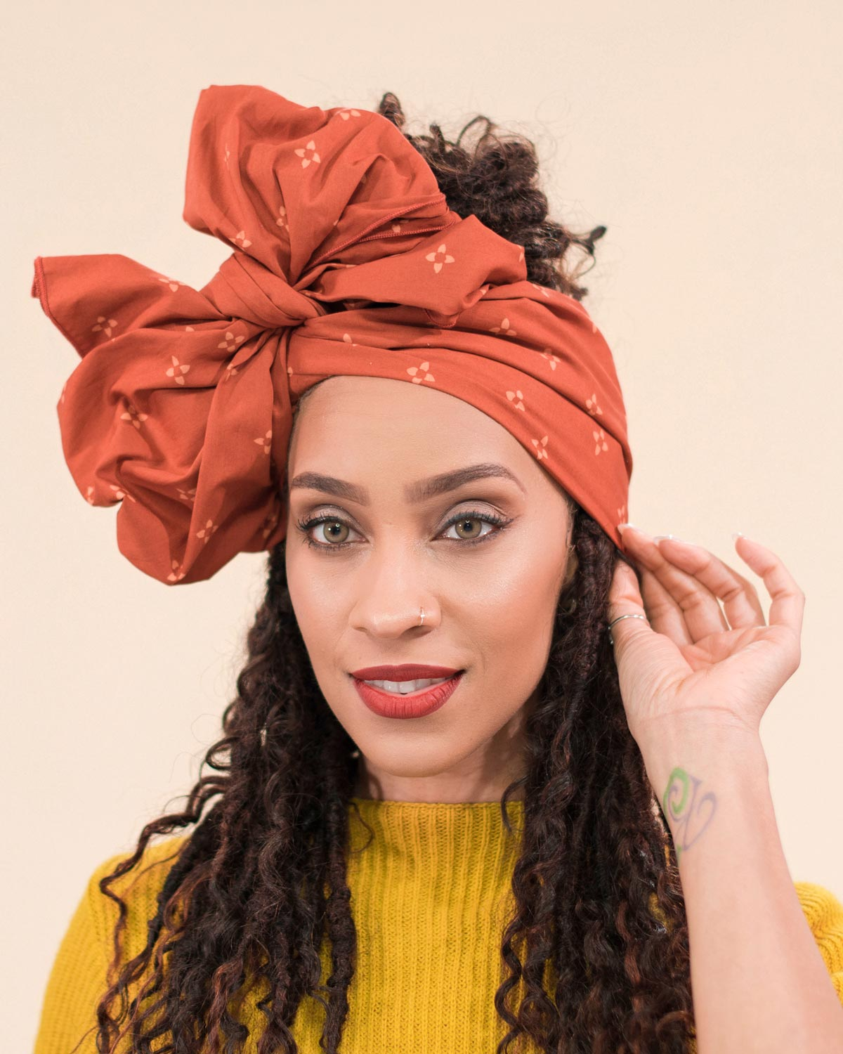 Casual Bow Head Wrap Style