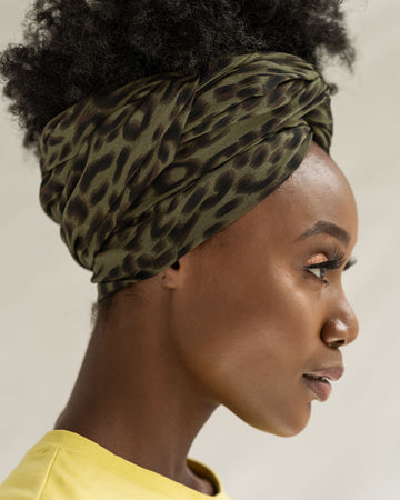 Forest Leopard Head Wrap