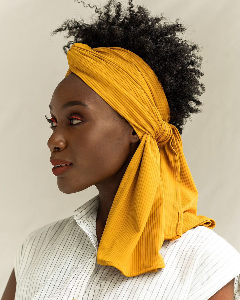 Citrine Ribbed Stretch Head Wrap