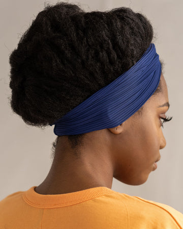 Indigo Ribbed Turbanette