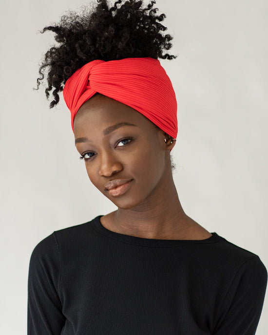 Ruby Ribbed Stretch Head Wrap