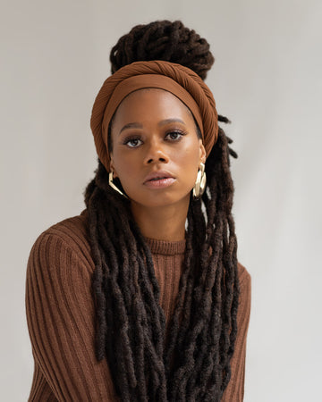 Cider Ribbed Stretch Head Wrap