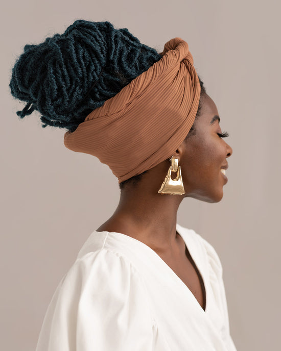 Fawn Ribbed Stretch Head Wrap