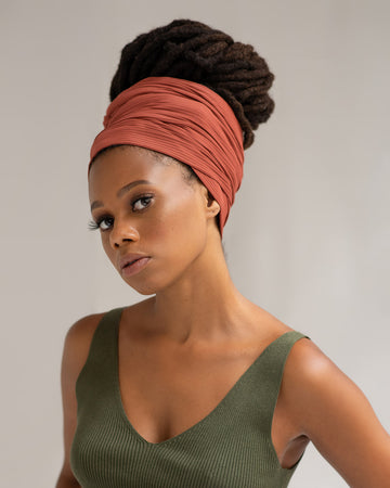 Geranium Ribbed Stretch Head Wrap