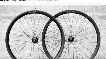 Road.cc 5/5 Review - HUNT 35 Carbon Gravel Disc X-Wide Wheelset