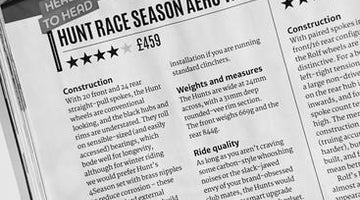 Cycling Plus Best On Test Head To Head Winner - HUNT Race Aero Wide Wheelset