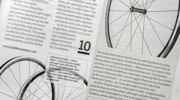Cycling Weekly Best In Test 10/10 Tubeless Wheels Grouptest - HUNT Race Aero Wide Wheelset