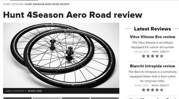 Cyclist Magazine Review - HUNT 4 Season Aero Wheelset