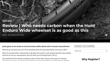 Singletrack Review - HUNT Enduro Wide MTB Wheelset