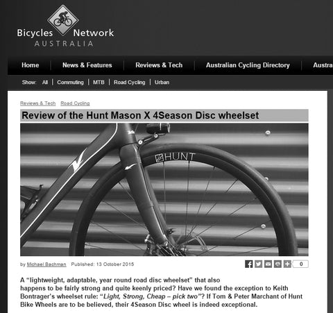Review of the Hunt Mason X 4Season Disc wheelset