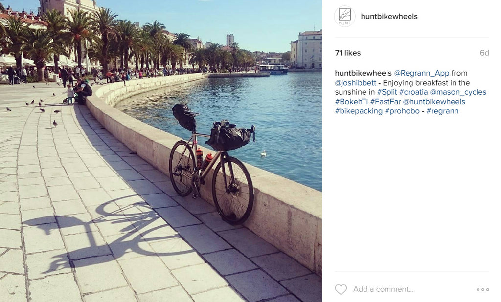 josh hunt wheels croatia bike packing