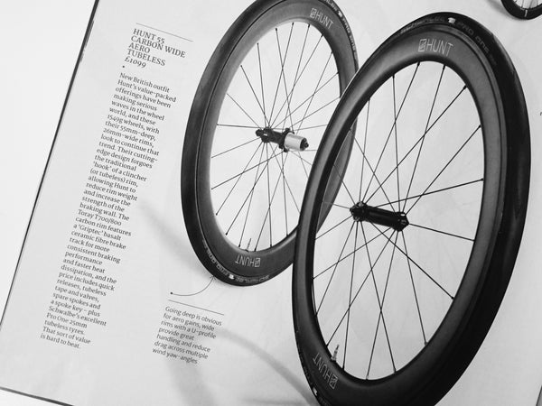 REVIEW: HUNT 55 CARBON WIDE AERO TUBELESS WHEELSET CYCLING PLUS GEAR GUIDE REVIEW