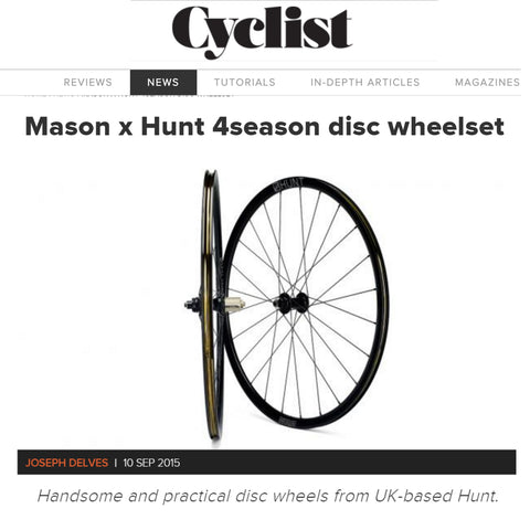 Hunt 4 Season Disc review on Cyclist website