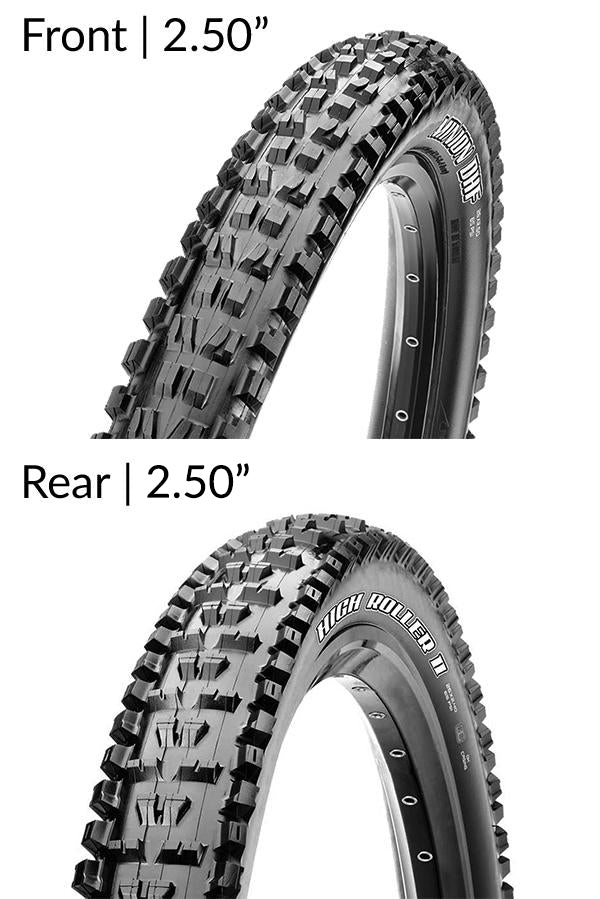 Maxxis Minion DHF and High Roller II Tubeless Tyres Combo
