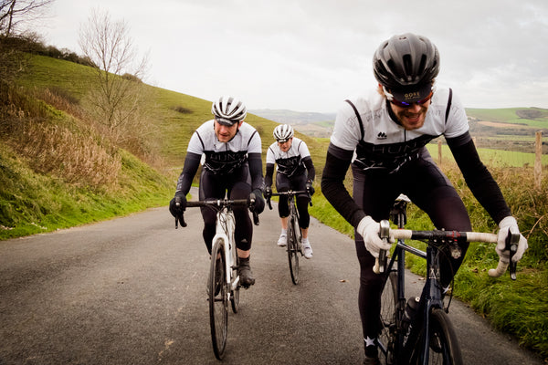 Hunt Bike Wheels riders Josh Ibbett, Tom marchment and Peter Marchment on Firle Beacon