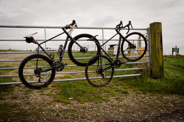 Mason Bikes with Hunt Wheels at the Summit of Firle Beacon