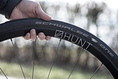 hunt wheel with schwalbe tyre