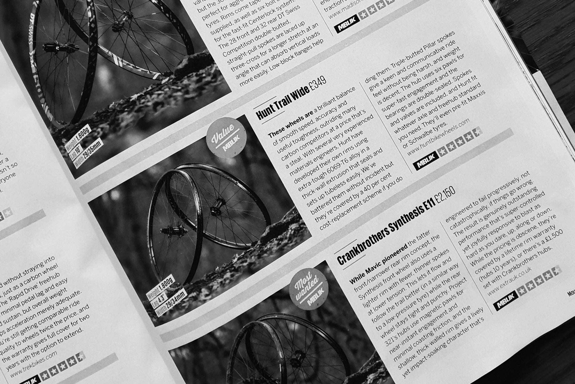 MBUK 4.5/5 Review HUNT Trail Wide MTB Wheelset