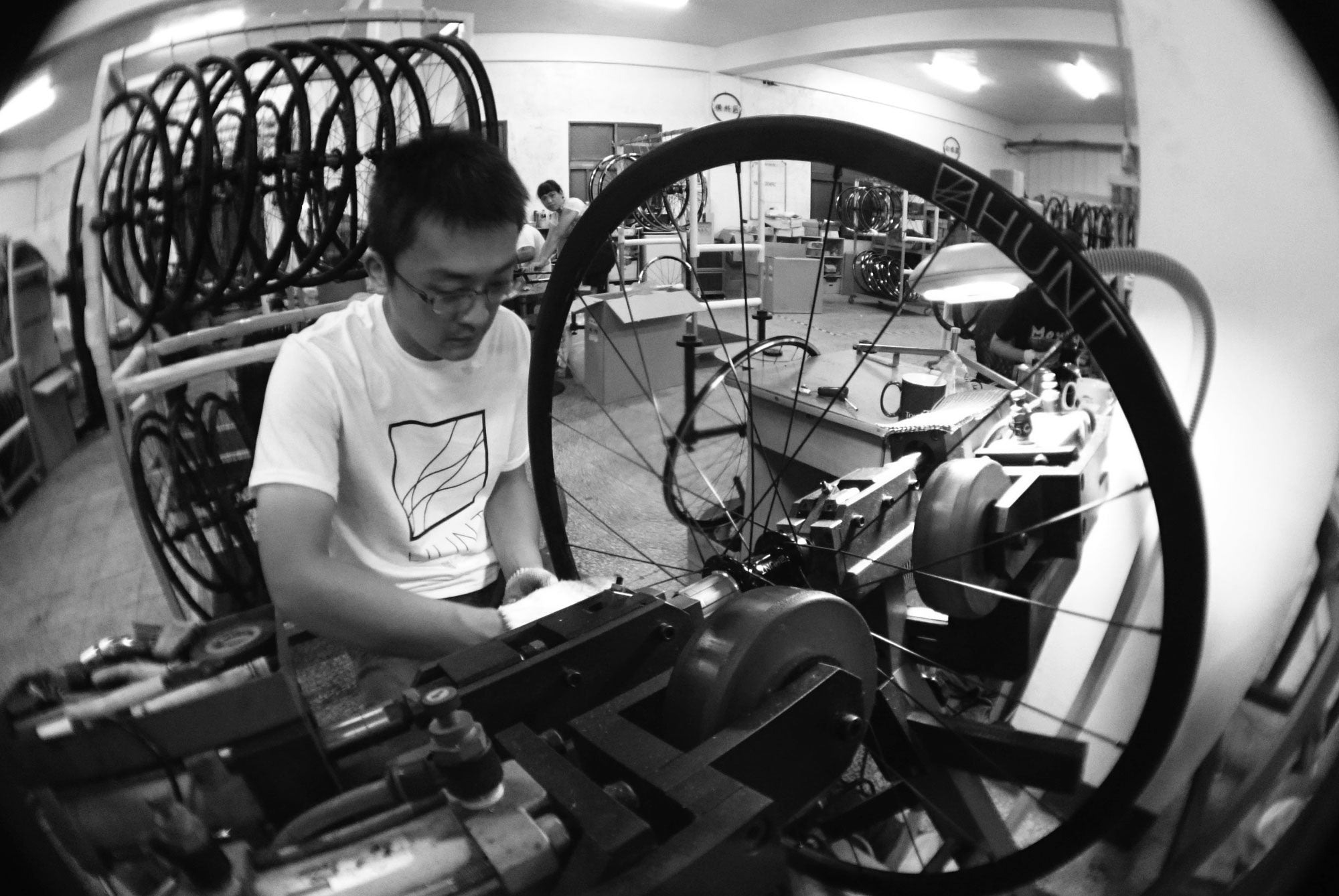 Mr. Hao Cheng Nov 15 who has been hand building our wheels since since we started