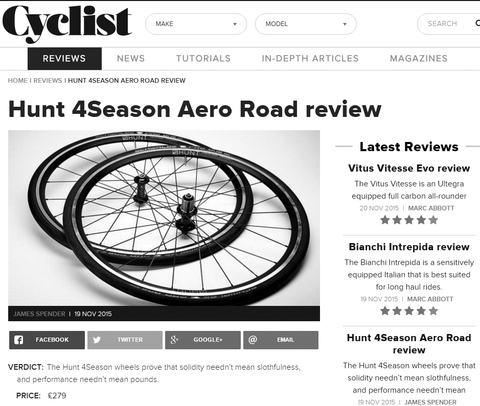 Hunt 4Season Aero Road review