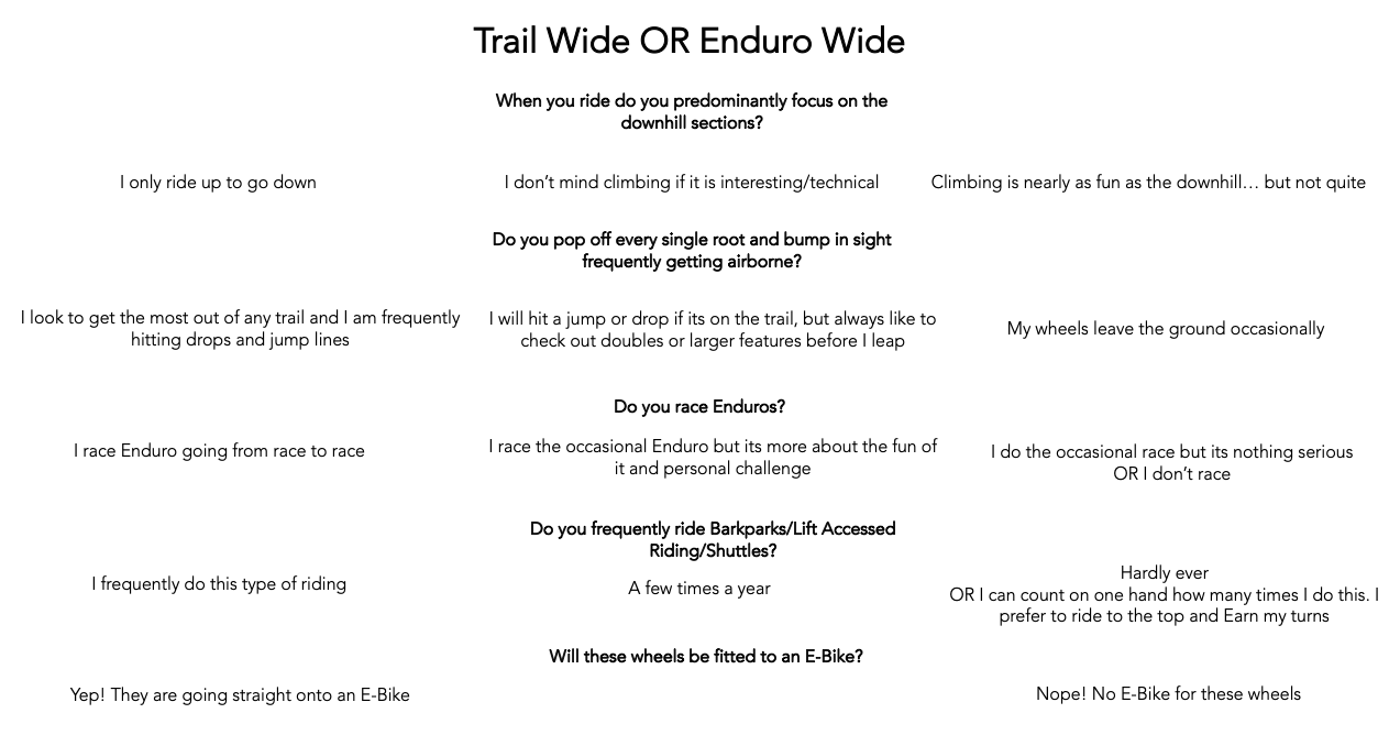 Trail or Enduro Wide