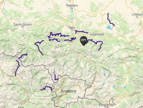 A map of some of the route