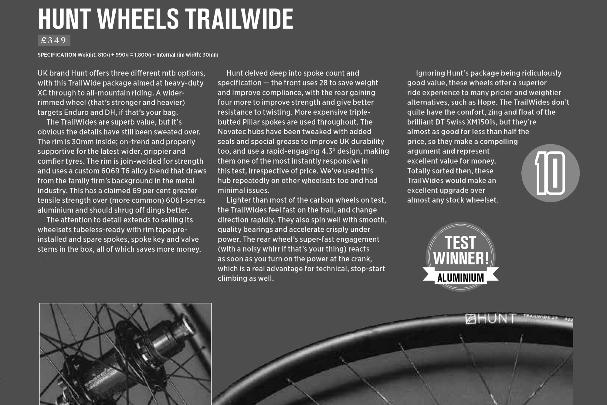MBR 10/10 Review HUNT Trail Wide MTB Wheelset
