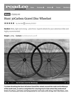 ROAD.CC REVIEW HUNT 30CARBON GRAVEL DISC WHEELS