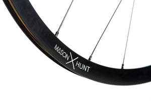 <h1>Rims</h1><i>HFR+ strong and lightweight 6061-T6 heat-treated rim, featuring an asymmetric shape, inverted from front to rear to provide balanced higher spoke tensions meaning your spokes stay tight for the long term. The rim profile is disc specific which allows higher-strength to weight as no reinforcement is required for a braking surface. The extra wide rim at 24mm (19mm internal) which creates a great tyre profile with wider 25-50mm tyres, giving excellent grip and lower rolling resistance.</i>