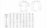 size chart for Hunt Enduro mountain bike Jersey long sleeves