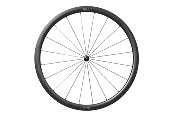 <h1>Rims</h1><i>A strong and seriously wide yet lightweight carbon rim, with an aero-rounded profile for excellent handling and speed. The extra friction Griptec brake-track provides excellent braking, on even the longest descents and in the wet. The rim dimensions are wide at 27mm (19mm internal) which creates a great tyre profile, resulting in excellent grip and lower rolling resistance.</i>