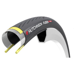 Hutchinson Fusion 5 ALL SEASON TLR 25mm tubeless tyres (Pair) & sealant fitted to your Hunt wheels