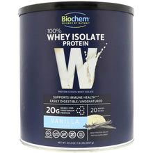 Load image into Gallery viewer, Biochem 100% Whey Protein Isolate Powder Vanilla - 1.8 lb