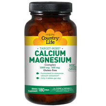 Load image into Gallery viewer, Calcium Magnesium Complex 1000mg : 500mg - 180 Tablets