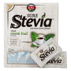 Pure Stevia Extract Plus Monk Fruit Powder - 100 Packets